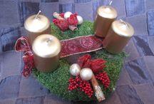 Adventi koszorúk / Saját készítésű adventi koszorúim. Amennyiben szeretnél több 5letet nézegetni a karácsonyi készülődés idején, ajánlom figyelmedbe: http://kreativvirag.blog.hu/ - oldalt.