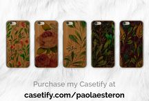 Casetify Cases / Collection of my Casetify phone cases designs