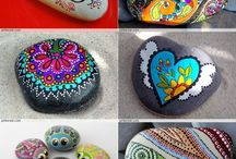 dotting rock mandala