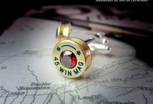 Bullet Art / Biżuteria militarna - Handmade by Marcin Chewiński. Produkty wykonane z łusek po amunicji. Spinki do mankietów, kolczyki, wisiorki, naszyjniki, pierścionki, sygnety, bransoletki, piny, słuchawki.