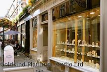 The Gold and Platinum Studio Bath / Gold and Platinum Studio Jewellery, Bath. Unique and precious rings, handmade here in our Bath studio, UK. Come and pay us a visit 19 Northumberland Place Bath BA1 5AR, England.