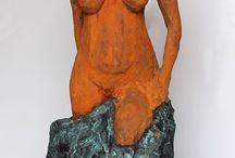 Jonas Konstigheter / Mina egna verk, stengods, keramik, gips, betong, ångpunk ceramics, sculpture, clay, art, concrete, plaster, steampunk