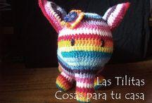 ♥ Elefante Multicolor ♥ / Simpático elefante multicolor, tejido al crochet