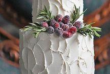 зимние свадебные торты