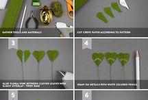 Crepe Paper Plants
