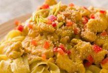 Tagliatelles au poulet curry