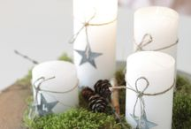 Christmas Candles & Tea lights / Get that homely Christmas feeling with candles dotted around the house | www.lights4fun.co.uk/c/q/indoor-lights/indoor-battery-lights/battery-led-candles / by Lights4fun