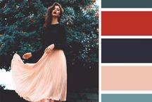 Сочетание цветов в одежде / О правильном и гармоничном сочетании цветов в одежде