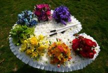 Floral tribute for an artist