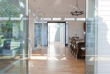 Frameless Vertical Glazing / Frameless glazing, when the glass is structurally bonded together without any framing or extra support, where the glass itself supports part of the structure (self supporting glazing).
