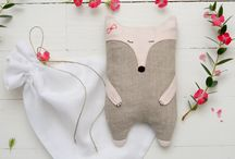 Sewed toys and pillows