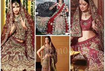 Indian Red Bridal Lehnegas