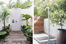 Outdoor pool and aesthetic spaces