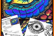 Grade 5/6 Art Ideas