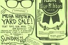 Hipster plakat, inspiration...