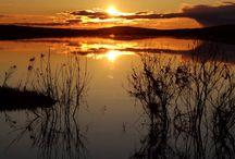 Midnight Sun in Rovaniemi, Lapland, Finland