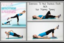 Ideas for Healing Diastasis Recti / Gentle workouts for diastasis recti including postnatal yoga and healthy eating tips for new moms!