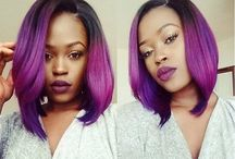 Colored & Dyed Hair / Amazing hair color dye jobs.
