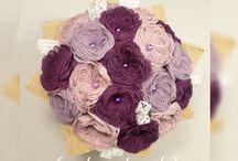Bouquets de Mariée en Tissu
