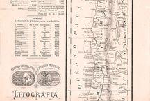 Mapa de Chile en 1876