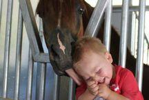 Animales y niños / ¡Que divertido es verlos disfrutar!