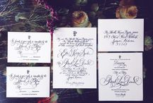 Wedding Calligraphy & Design / Custom wedding sets designed by Christina at The Turquoise Cardinal - invitations, reply cards, envelopes, menus, all hand lettered using calligraphy or modern handlettering and watercolor.  Contact us to collaborate!