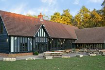 High Lodge Visitor Centre, Thetford / The large timber framed visitor centre in Thetford forest accommodates a gift shop, café, cycle hire and toilets.