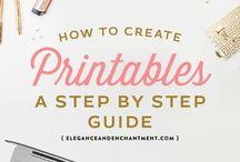 printables DIY / how to make printable downloads