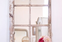 Old wooden window frames / Recycle up cycle old wooden frames