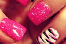cool pink nails