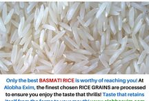Basmati Rice / Fancy the finest quality Basmati Rice? Straight from the land that gave the world this awesome rice grain, Alobha Exim brings you the chosen finest processed Basmati Rice.
