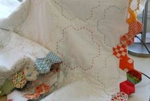 Hexagons! / Hexagon quilts, English paper piecing, baby blocks, 60 degree triangles, and more...