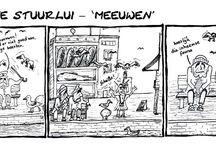 De Beste Stuurlui - Strip/ cartoon / Strip/ cartoon over twee betweterende, zuurpruimende, gepensioneerde vissers.