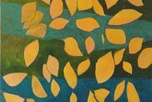 I miei dipinti, foglie, rami, mondo vegetale