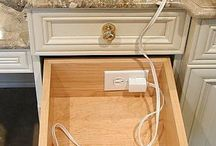 Plug for hairdryer in drawer great hide away