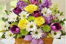 Цветочные корзины.