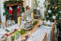 Woodland Christmas Table Set - By Styleboxe / Styleboxe takes the time and stress out of creating a perfectly styled Christmas Dinner Table.  Everything you need for a festive tabletop all in one box.