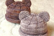 Knitted and crochet baby hats
