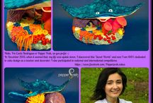"""Sugar Collaborations Let's Find Dory / To celebrate the release of the movie """"Finding Dory"""", a group of designers cake/ sugar artists from various countries came together to create an edible art project. Please visit our website to know each artist and learn more about them. Also visit your pages or personal websites and marvel at the creativity that you find. https://www.facebook.com/dorycollaboration/ #collaborations #cakecollaborations #dorycollaboration #theellenshow #findingdory #pepperposh #pepperposhcakes"""