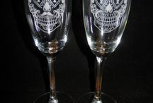 Sugar skull / sugar skulls engraved glasses   Would you like a custom design Engraved for your wedding? or event? Simply Send us a picture or tell us the design you would like.  Note graphic fee will apply depending on detail. www.aaalogos.com.au