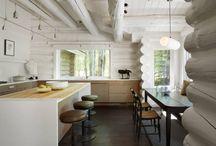 Yellowbell / Carney Logan Burke Architects / nowoczesna STODOŁA / Aranżacja rustykalnego domu z bali w pobliżu ośrodka narciarskiego w Jackson Hole.