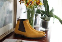 Mustard Suede Ankle Boots