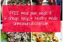 Meal Plans / free meal plans, meal planning ideas, free meal planning tools, meal plans with grocery lists