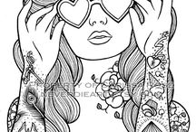 Colouring - In Pictures / Pictures and books to colour in for adults or children :)