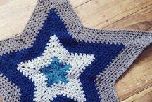 hvězdy háčkované, pletené
