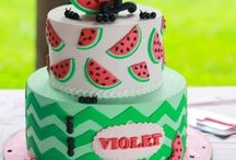 Watermelon cakes, cookies, cupcakes and cakepops..