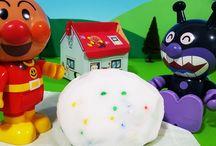 アンパンマン アニメ❤おもちゃ 手作り宝石入り巨大バスボール Big Surprise Eggs