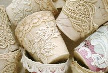 lace covered pots