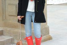 Bright coral hunter boots fashion