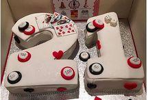 21st gambling number cake